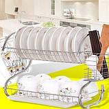 Стойка сушка для хранения посуды kitchen storage rack, фото 5
