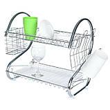 Стойка сушка для хранения посуды kitchen storage rack, фото 6