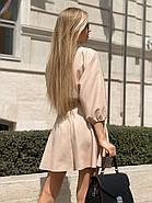 Повсякденне літнє плаття з резинкою на талії, розкльошена спідниця, 00766 (Бежевий), Розмір 44 (M), фото 4