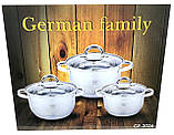 Набор кастрюль из нержавеющей стали German Family GF-2026, фото 4