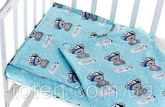 Детское сменное постельное белье 3 в 1 бязь 100% хлопок. Простынка, наволочка, пододеяльник