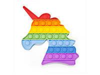 Игрушка антистресс Pop it для детей разноцветная  Единорог FL302