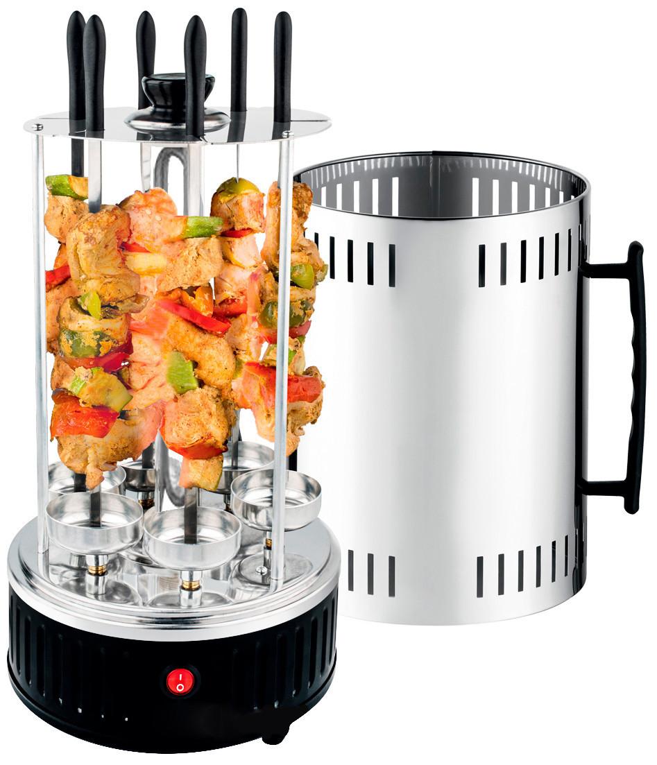 Электрошашлычница шашлычница BBQ на 6 шампуров 1000W