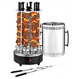 Электрошашлычница шашлычница BBQ на 6 шампуров 1000W, фото 6