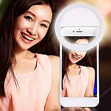 Світлодіодне кільце для селфи Selfie Ring Light SG11, фото 4