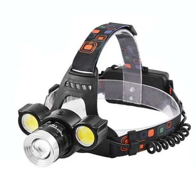 Налобний ліхтар BL 878 + COB T6 ліхтарик 1050 Lumen