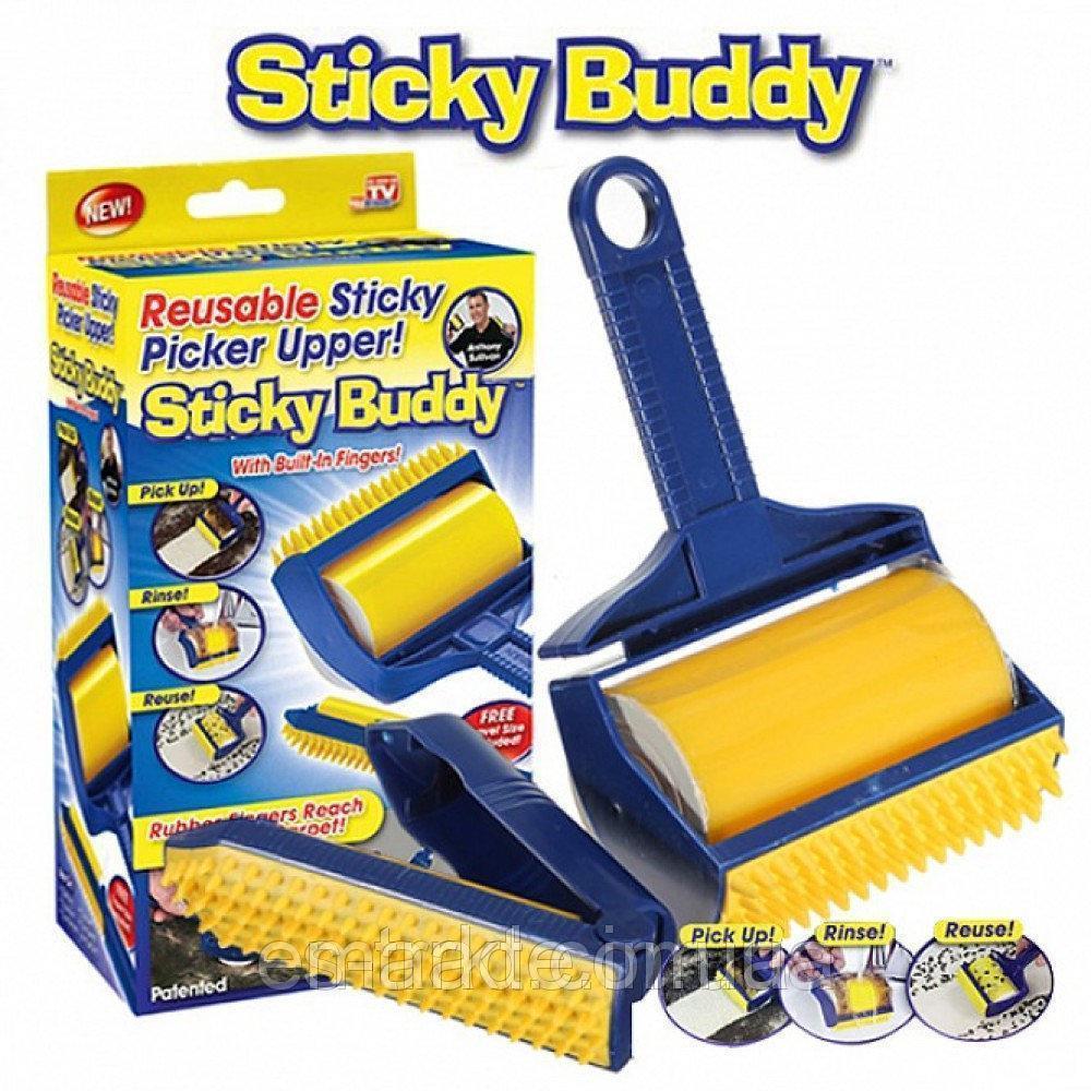 Валик щётка для уборки мусора и шерсти животных Sticky Buddy