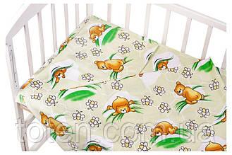 Комплект 3в1 постельного детского белья простынка, пододеяльник, наволочка бязь разные расцветки