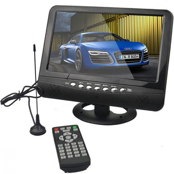 "Портативный телевизор 902 с Т2 USB SD 9,5"" + батарея"