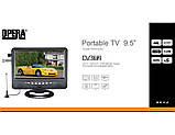 """Портативный телевизор 902 с Т2 USB SD 9,5"""" + батарея, фото 4"""