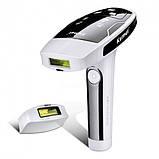 Портативний лазерний епілятор (фотоепілятор) Kemei KM 6812 для обличчя і тіла, фото 2