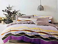Комплект постельного белья Сиренивые волны | семейный | Бязь Gold Lux
