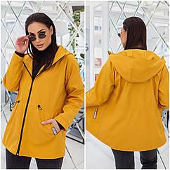 Куртка батал nobilitas 50 - 56 желтая плащевка (арт. 21010)