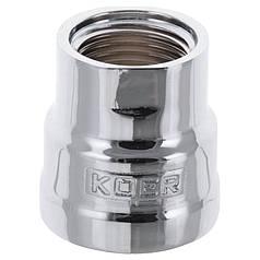 "Муфта редукционная 1/2""х3/4"" (хром) KOER KF.C0608.CHR (KF0122)"