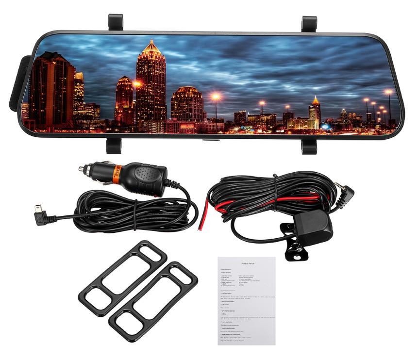 Дзеркало відеореєстратор L900 сенсорне 9,6' + камера заднього виду