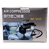 Портативний автомобільний Air Compressor електронасос компресор для авто 12В, фото 8