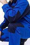 Куртка НОВАТОР з ПВХ, тк.Zibo (65%п/е+35%х/б), васил./т. синій, фото 2