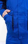 Куртка НОВАТОР з ПВХ, тк.Zibo (65%п/е+35%х/б), васил./т. синій, фото 8