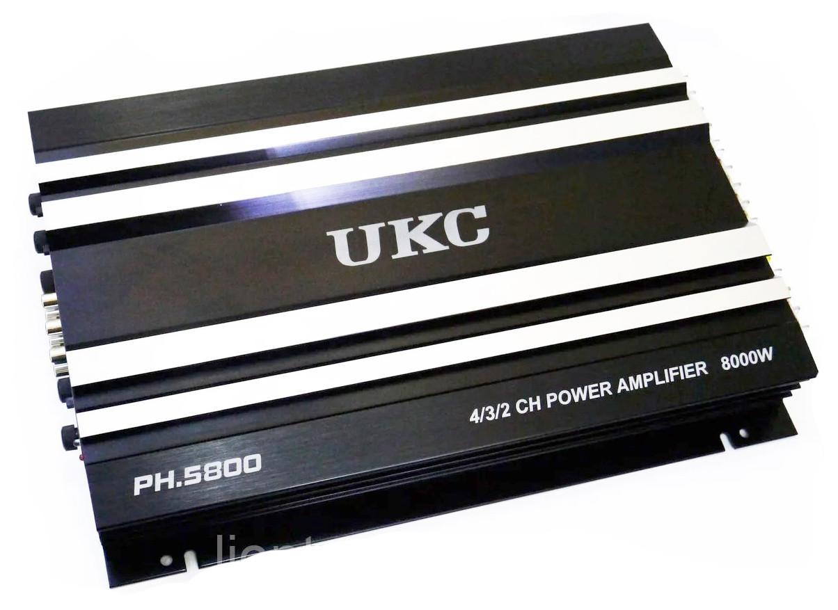 Автомобільний підсилювач звуку UKC PH.5800 8000W 4-х канальний
