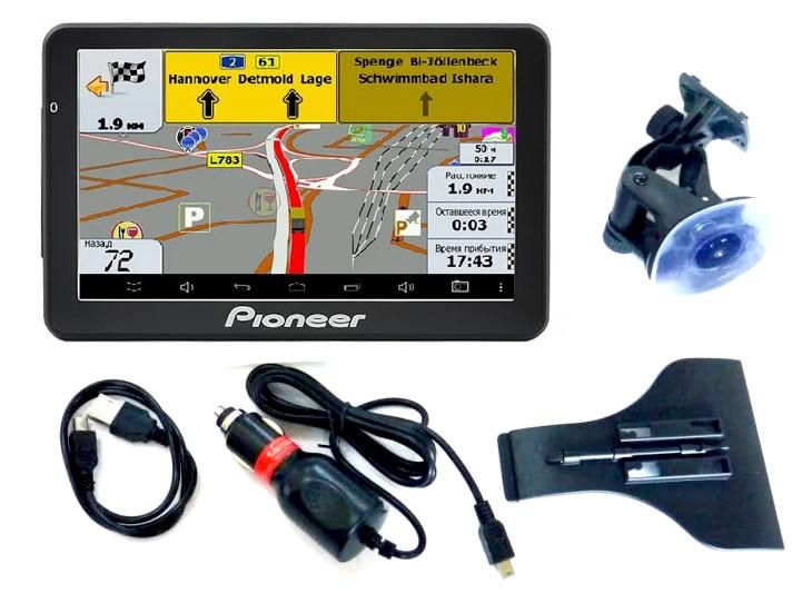 Навігатор 7 GPS Pioneer G718 - 8gb 800mhz 256mb IGO+Navitel+CityGuide