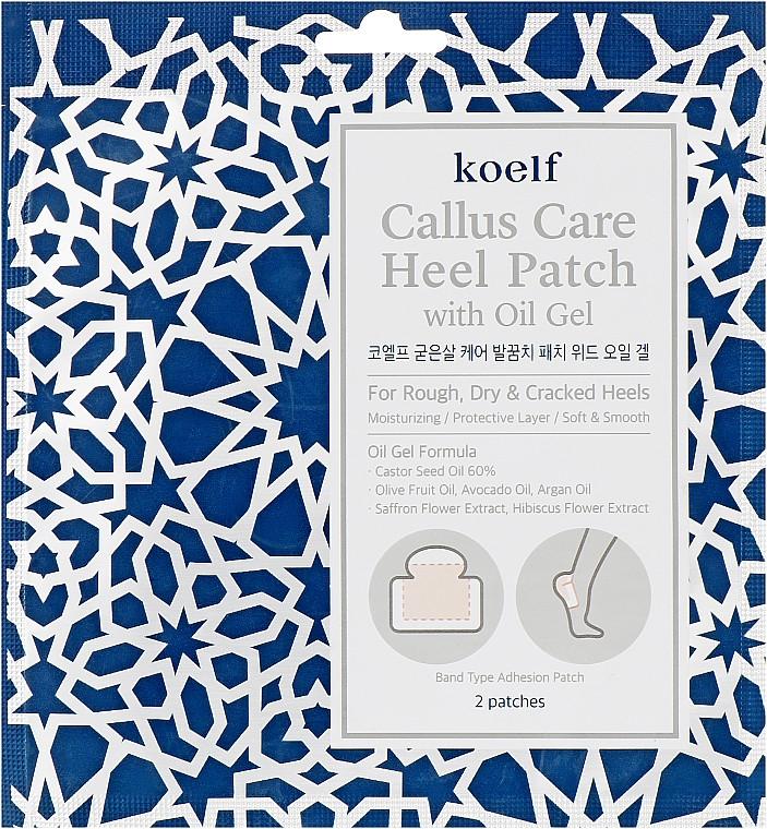 Патчі для п'ят з гель-маслом KOELF Callus Care Heel Patch with Oil Gel