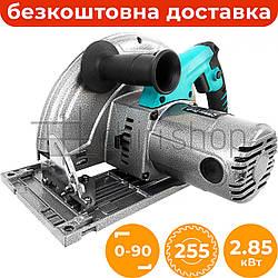 Ручная циркулярная пила Riber-Profi ПД 255/2850А, электропила ручная дисковая пила с литой подошвой, паркетка
