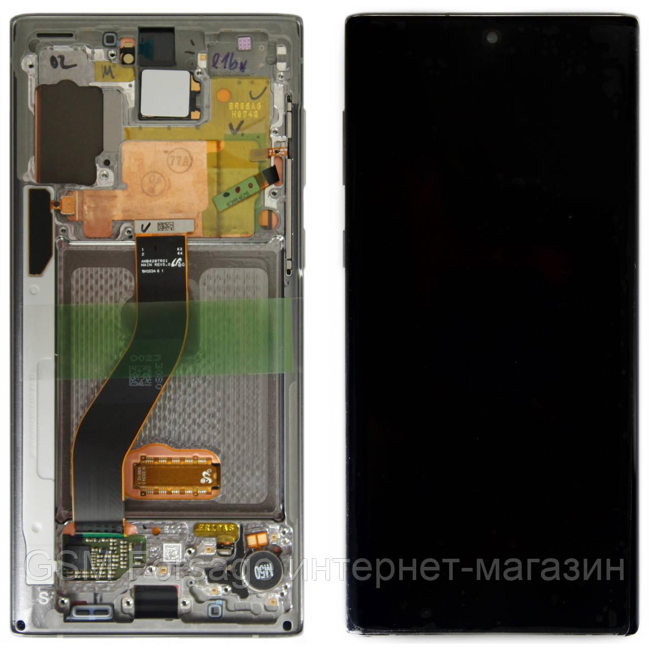 Дисплей Samsung Galaxy Note 10 SM-N970 100% (Service Pack) з рамкою Silver