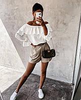 Жіноча стильна блуза з рюшами, фото 1