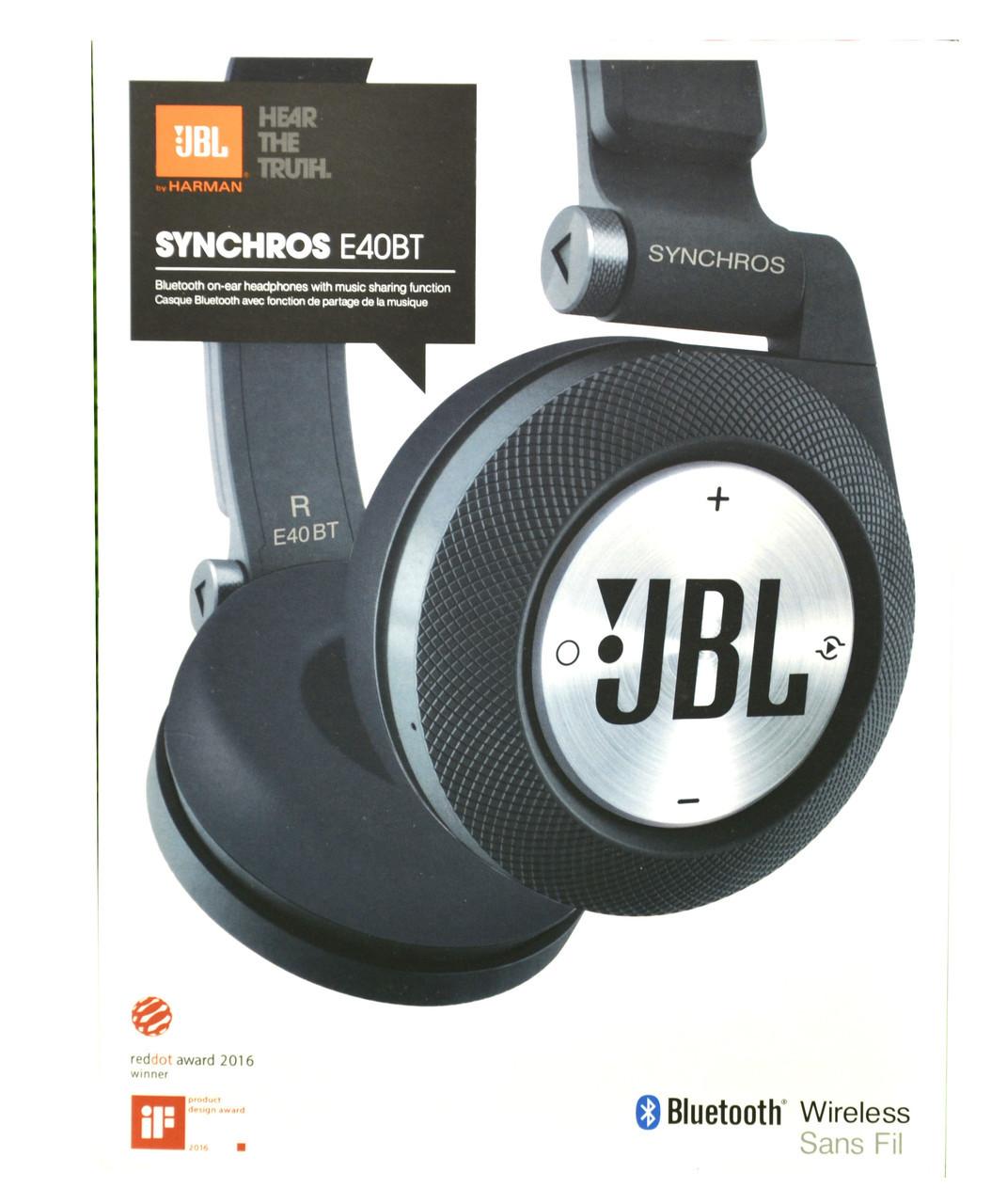 Навушники безпровідні JBL SYNCHROS E40 BT ,блютуз,карта пам'яті, аукс