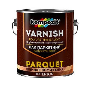 Лак паркетний Kompozit 2,5 л/2шт