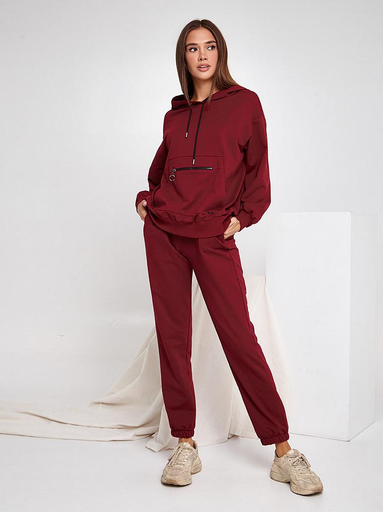 Жіночий спортивний костюм Черрі вишневий SOLH MKSH2530