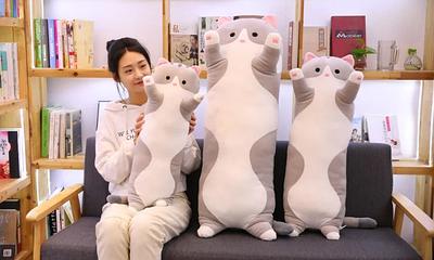 Оригинальная подушка-игрушка Super Cat grey
