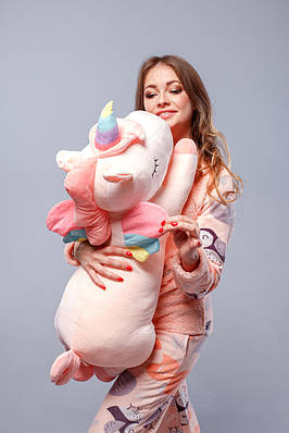 Оригинальная подушка-игрушка Мой Единорожек pink