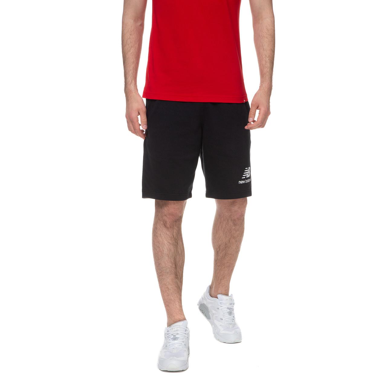 Шорти чоловічі New Balance Essentials Stacked Logo чорні (MS03558BK)