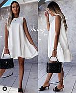 Модне офісне плаття з костюмкі з потайними кишенями, 00774 (Білий), Розмір 46 (L), фото 2