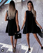 Стильное универсальное платье без рукавов, 00776 (Черный), Размер 46 (L), фото 2