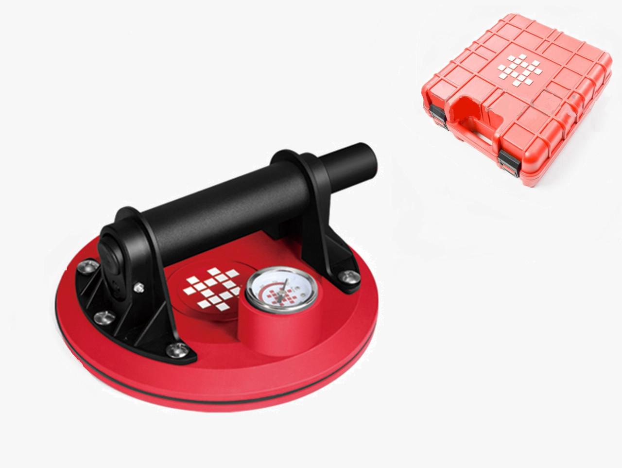 Вакуумная присоска Shijing P611🥌 с манометром ⌀200 мм, ⚖190 кг
