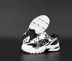 Спортивные кроссовки New Balance 530 Black White (Кроссовки Нью Баланс 530 черно-белые женские и мужские 36-45