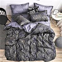 Комплект постельного белья Перья павлина | евро | Бязь Gold Lux