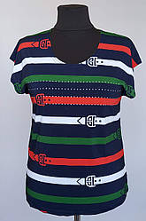 Молодежная женская футболка «Natalia» в полоску (50-60 р)