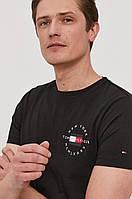 Мужская футболка Tommy Hilfiger, черная томми хилфигер, фото 1