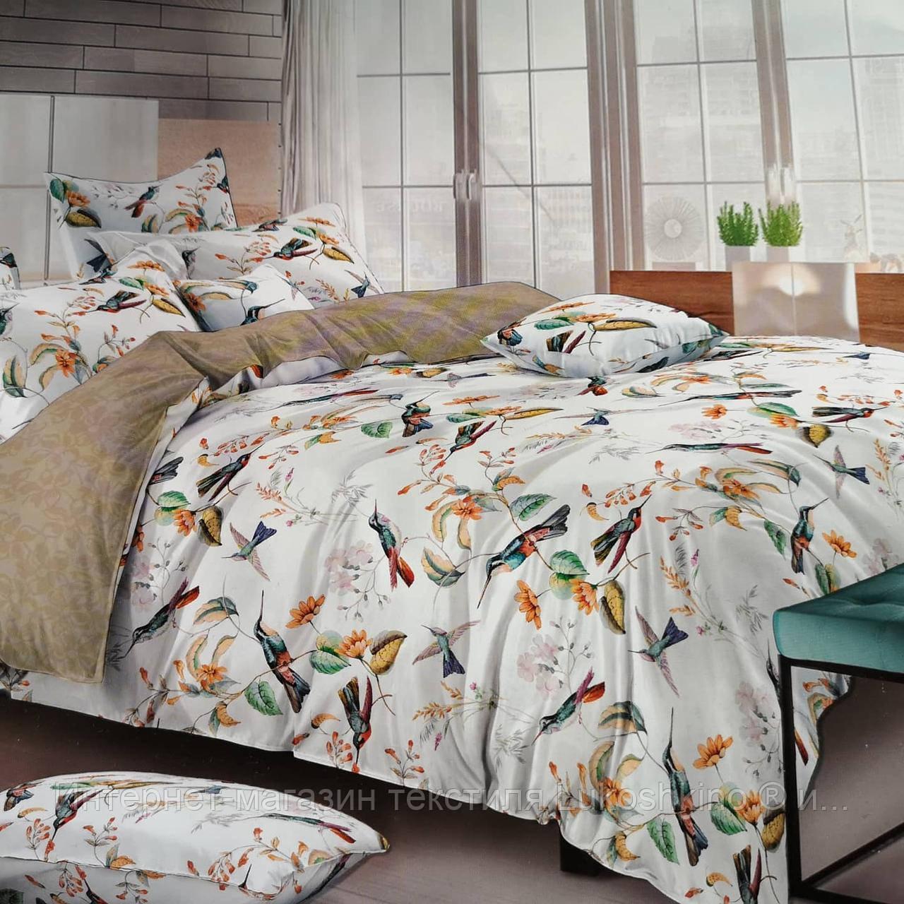 Полуторный комплект постельного белья. Двуспальный, Евро, Семейный. Хлопок, Сатин.