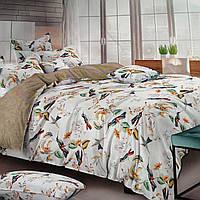 Двуспальный комплект постельного белья. Полуторный, Евро, Семейный. Хлопок, Сатин.