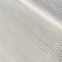 Вафельная ткань кремовая однотонная, ширина 42 см