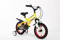 Детский двухколесный велосипед 12 дюймов SNIPER желтый