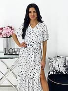 Повседневное платье, длиною миди, с небольшим разрезом, 00784 (Белый), Размер 48 (XL), фото 2
