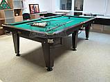 Більярдний стіл для пулу ОСКАР 7 футів ЛДСП 2.0 м х 1.0 м з натурального дерева, фото 7
