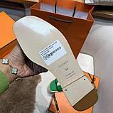 Шлепки от Эрмес натуральная кожа, фото 5