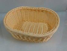 Корзина Empire для хлеба 24х19 см h7 см пластик, Корзина для подачи и хранения хлеба, Хлебница овальная
