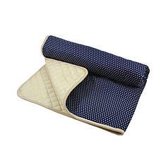 Матрац для вігваму Lesko D001 Горошок Navy Blue дитячий килимок
